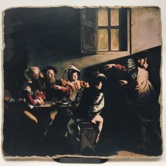 Affresco Vocazione di San Matteo di Caravaggio