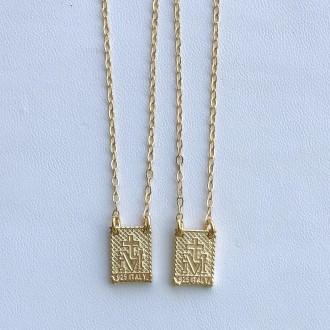 Scapolare in argento 925 dorato