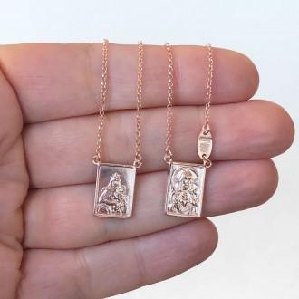 Scapolare in argento 925 rosato