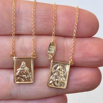 Collana scapolare lunga argento dorato