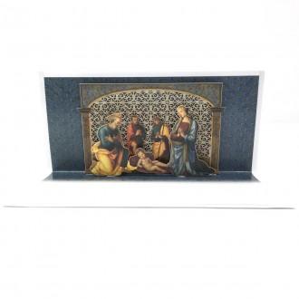 Biglietto natale merlettato Perugino