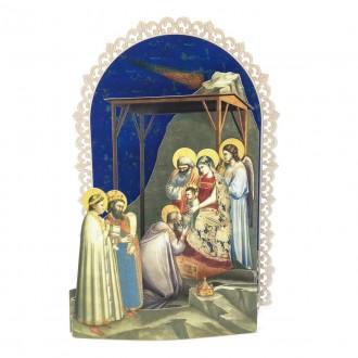 Biglietto Adorazione dei magi Giotto pop up