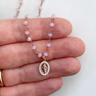 Collana rosario Miracolosa lux rosa
