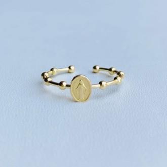 Anello rosario Miracolosa oro
