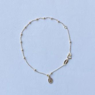 Bracciale rosario in oro micro