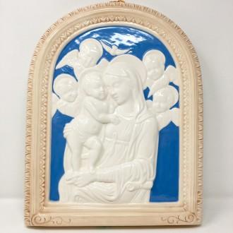 Madonna con bambino tipo Della Robbia cm. 20 x 15