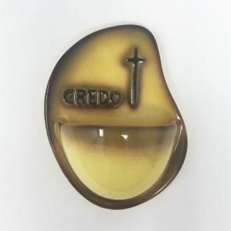 Acquasantiera Credo gialla