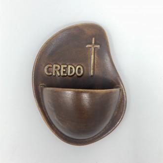 Acquasantiera Credo marrone