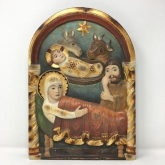 Natività romanica da appendere dipinta