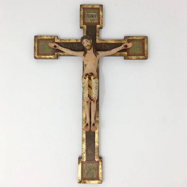 Crocefisso romanico in legno