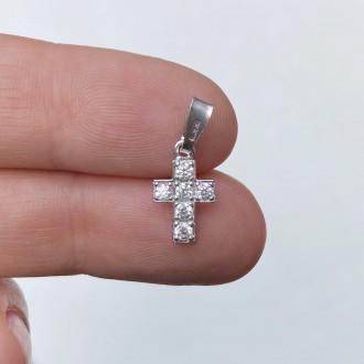 Croce zirconi argento
