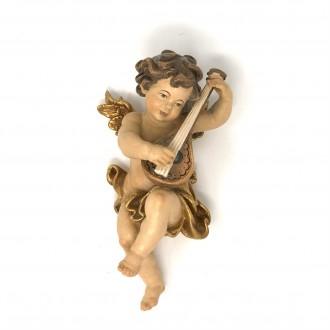 Angelo in legno dorato flauto