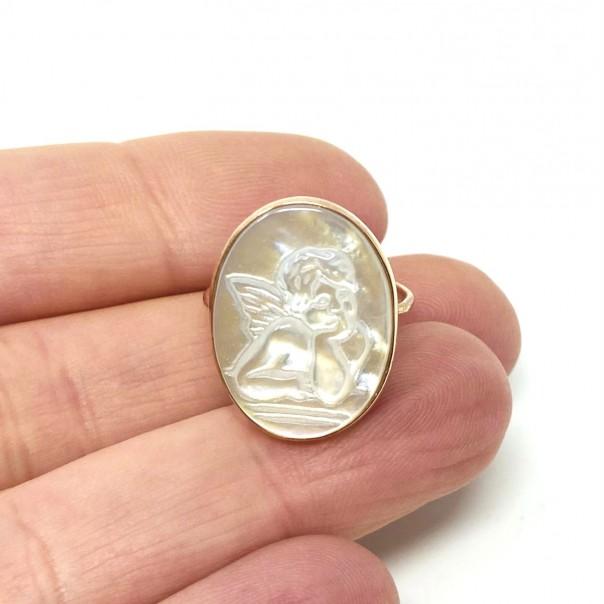 Anello Ti Tengo per mano argento rosato