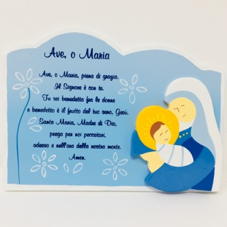 Preghiera Ave Maria azzurra