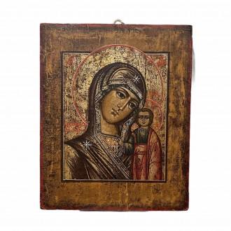 Antique icon Madonna of Kazan