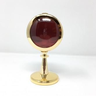 Reliquiario medio ottone dorato