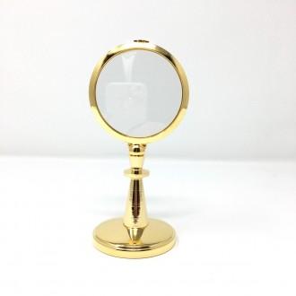 Ostensorio in ottone dorato semplice