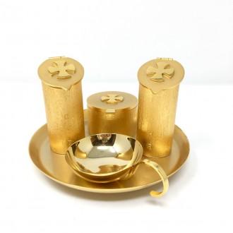 Set olii da altare per battesimo bronzo