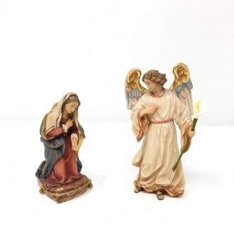 Statua Annunciazione in legno