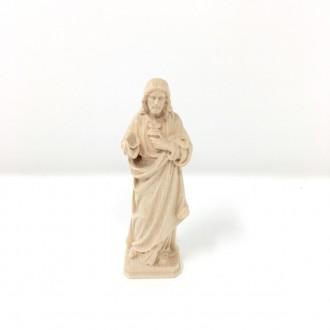 Statua Sacro Cuore di Gesù cm 8 legno bianco