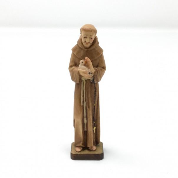 Statua San Francesco in legno cm 7