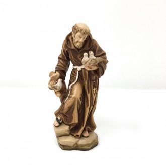 Statua San Francesco in legno cm 15