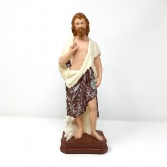 Statua San Giovanni Battista cm 30 in gesso