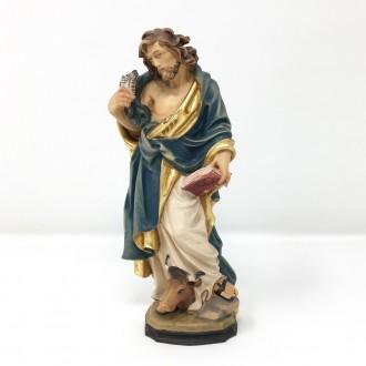 Statua San Luca cm 20 in legno