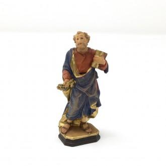 Statuina San Pietro miniatura in legno cm 6