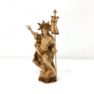 Statua Cristo Risorto in legno cm 17