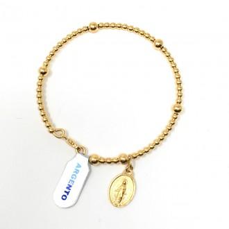 Bracciale di Lourdes argento dorato