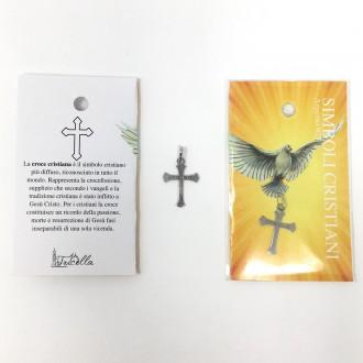 Ciondolo simboli cristiani - Croce fede -