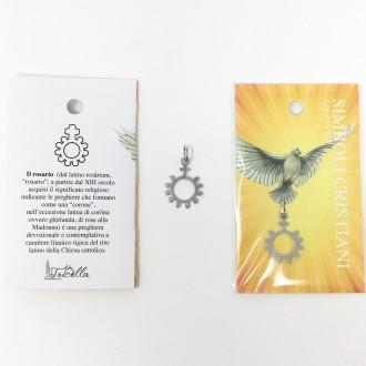 Ciondolo simboli cristiani - Rosario -