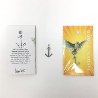 Ciondolo simboli cristiani - Ancora - speranza -