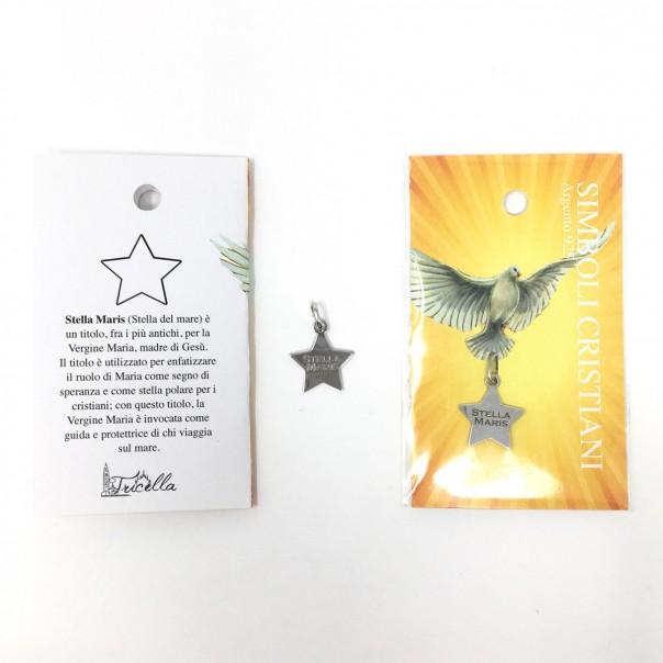 Ciondolo simboli cristiani - Stella Maris -