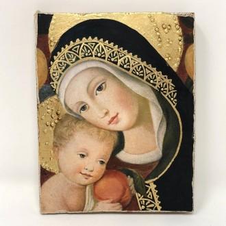 Affresco Madonna con bimbo Crivelli