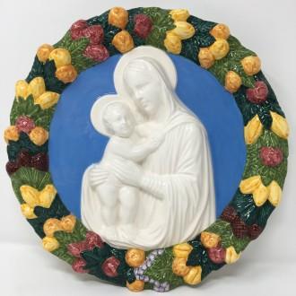 Madonna con bambino tipo Della Robbia cm. 30