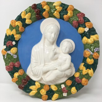 Madonna con bambino tipo Della Robbia cm. 35