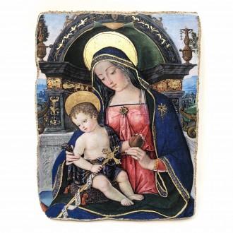 Affresco Madonna con bambino Pala Fossi