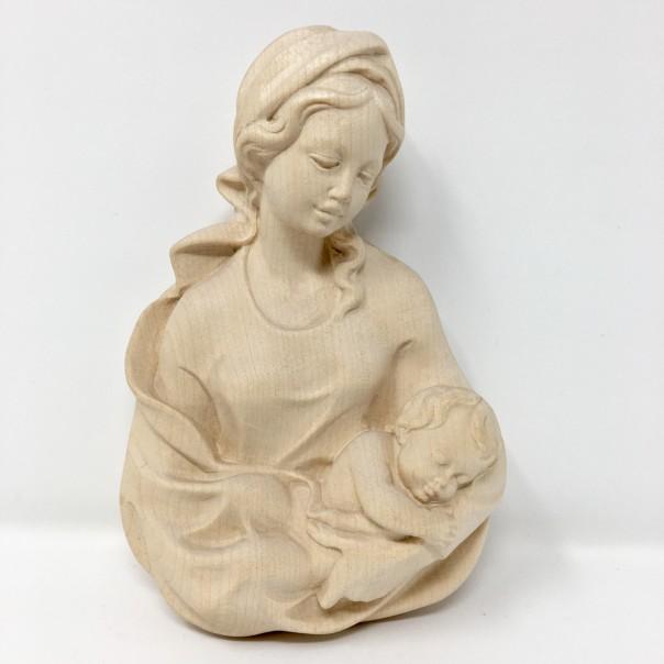 Madonna con Bambino rilievo cm 17 naturale
