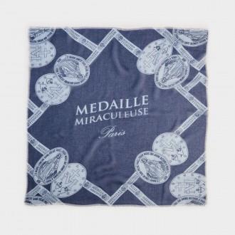 foulard con stampa otto medaglie miracolose avio