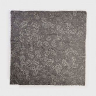 Foulard con stampa mille medaglie miracolose ebano