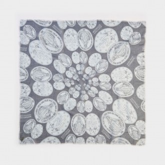 Foulard infinito di Medaglie grigio